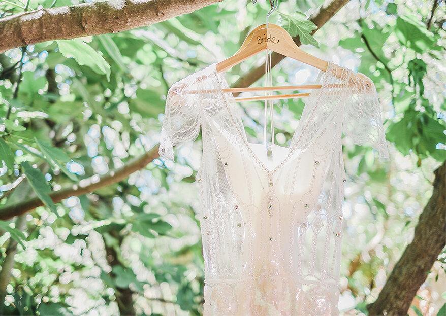 Que vestido de noiva estava na moda no ano em que nasceu?