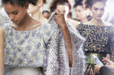 Chanel pone de moda los tenis alta costura para novia