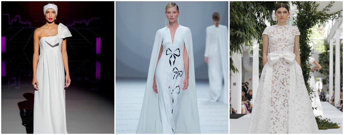Les plus belles robes de mariée avec des nœuds