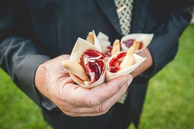 8 aperitivos que a todos los invitados les encanta ver y probar en una boda ¡Inclúyelos en tu gran día!