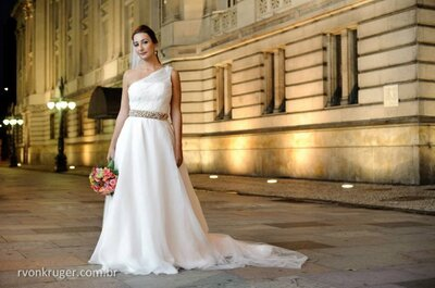 Que tal um vestido de noiva assimétrico para seu casamento? Escolha o seu!