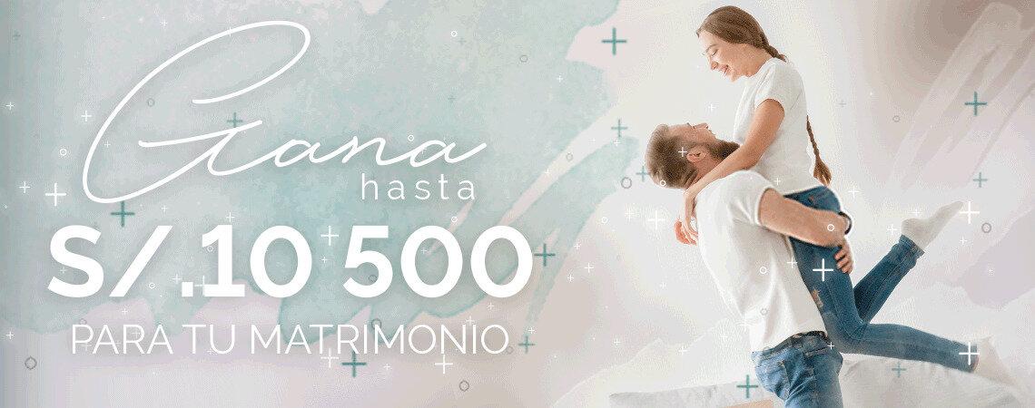 Participa y gana ¡hasta S./10,500 para tu matrimonio con nuestro sorteo! Queremos ayudarte a celebrar tu gran día…