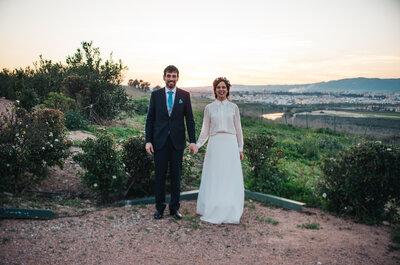 Radiantes de felicidad: la boda de Isabel y Luis