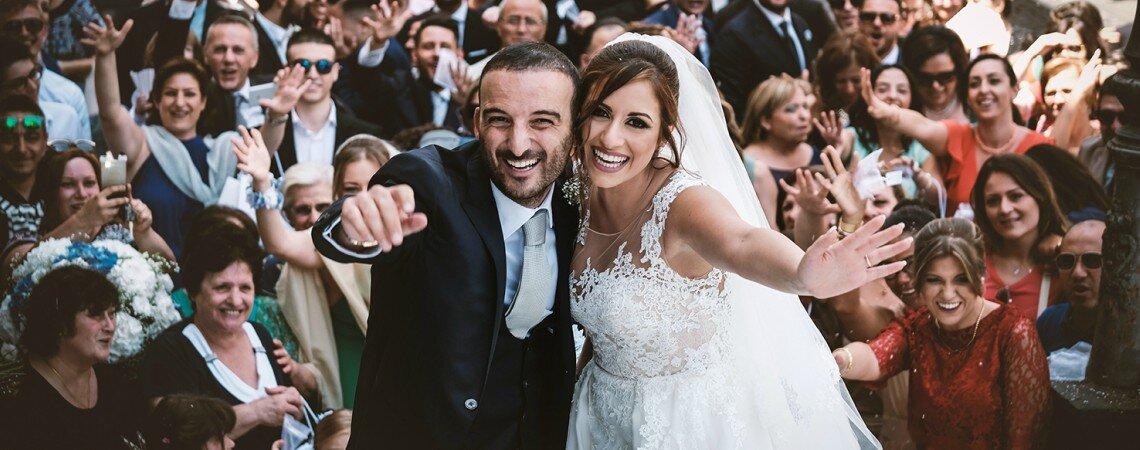 Mediterranea vivacità: il matrimonio di Vincenzo e Maria