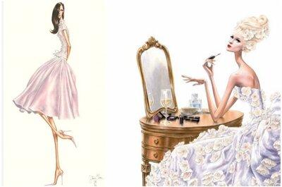 Los más lindos y elegantes vestidos de novia en ilustraciones de moda… ¡Wow!