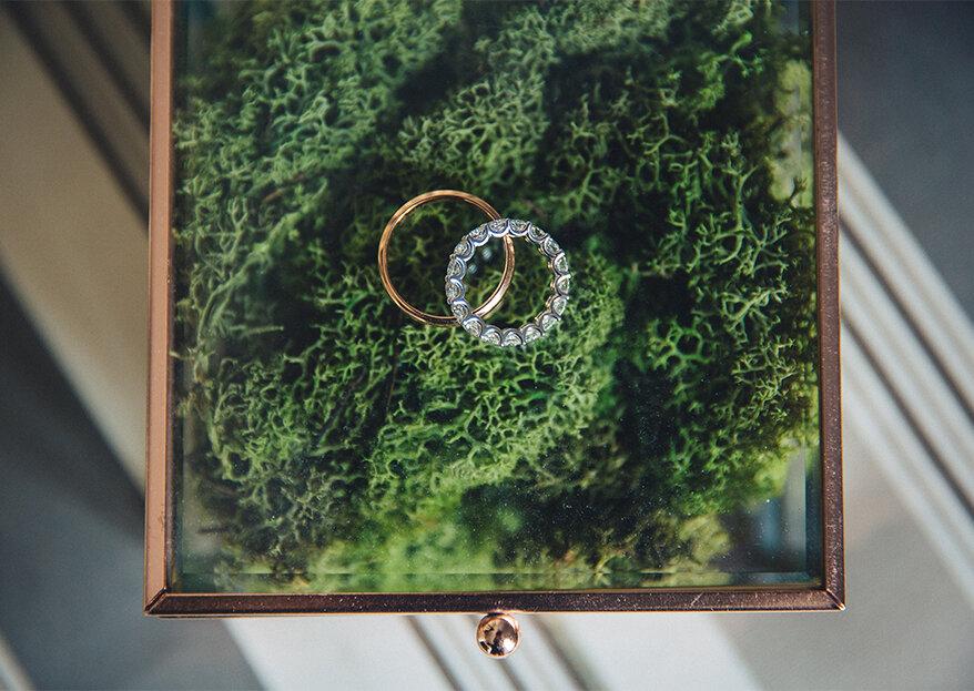 Frases originais para registar nas alianças de casamento