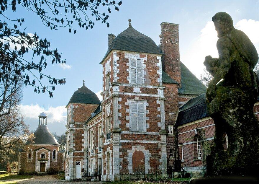 Un mariage intimiste dans un lieu authentique : visitez le château de Bonnemare