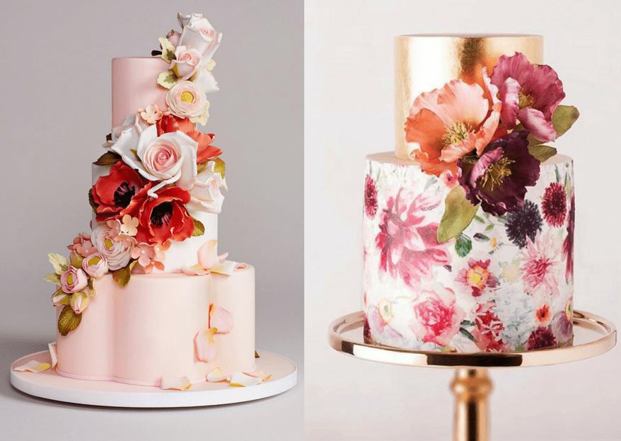 50 pasteles de boda elegantes y hermosos para tu gran día