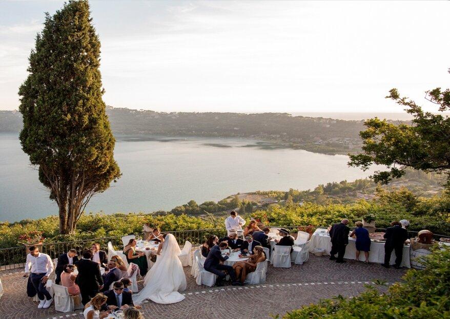 Villa Pocci: un matrimonio elegante e suggestivo con una vista panoramica sul lago
