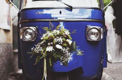 Ape car per il matrimonio 2017: la tendenza che stupisce