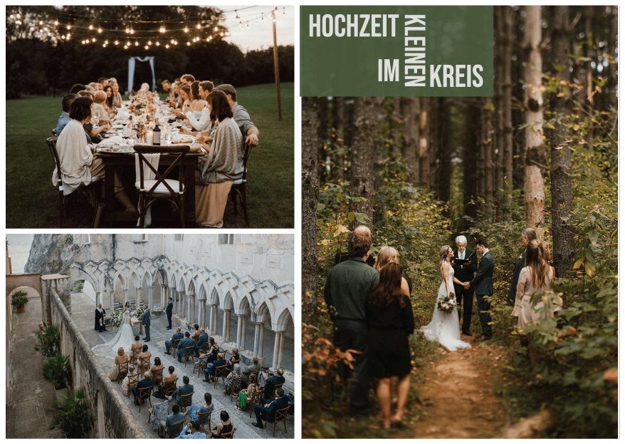 Eine kleine Hochzeit feiern -  hilfreiche Tipps für die Planung!