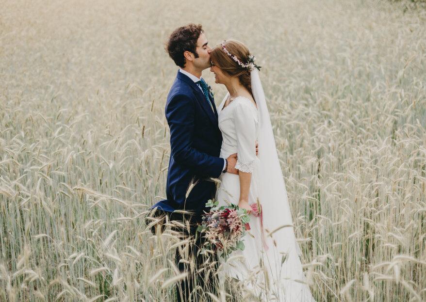 Fotos llenas de detalles, espontaneidad y alegría: la boda de Helena y Diego