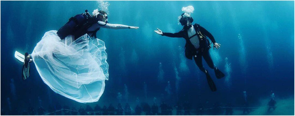 Heiraten Sie unter Wasser - Diese vier Luxusorte machen es möglich