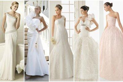 Oggi su Zankyou un'esclusiva selezione di abiti da sposa monospalla Collezioni 2013