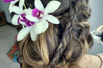 Cómo escoger el peinado para el día de tu boda según la forma de tu cara