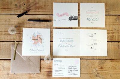 Envie d'invitation originale pour votre mariage en 2015 ?