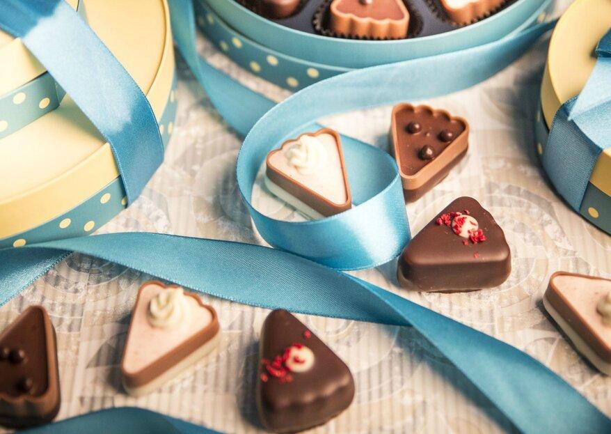 Exklusive Pralinen & Schokoladen von CHOCOLISSIMO: Süße Gastgeschenke für Ihre Hochzeit
