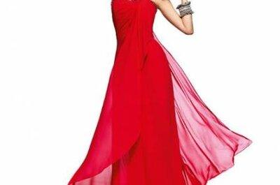 Vestidos vermelhos para convidadas de Pronovias