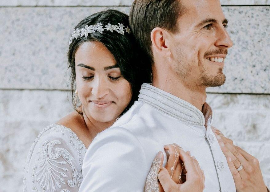 Casamento sofisticado de Natacha e João: celebração glamourosa com toques étnicos e muito amor envolvido!