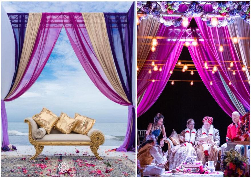 Cómo organizar una boda india... y en la playa: ¡detalles y colores que te deslumbrarán!