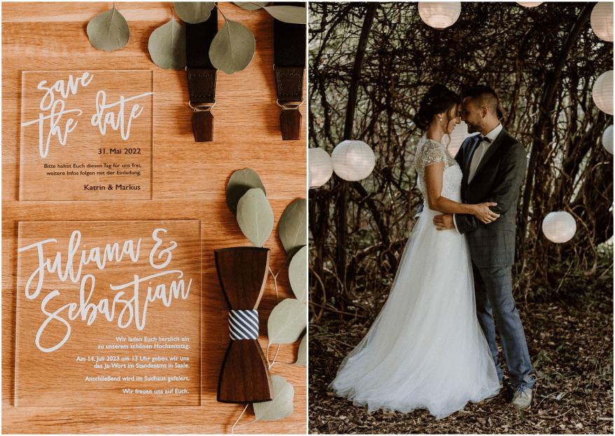 Boho-Hippie Styled Shoot mitten im Wald mit Tipi-Zelt und Holzelementen: Inspiration für Ihre Hochzeitsfeier!