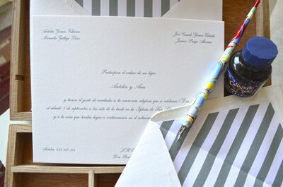Cómo escribir las invitaciones de boda: ¡apunta estos consejos!