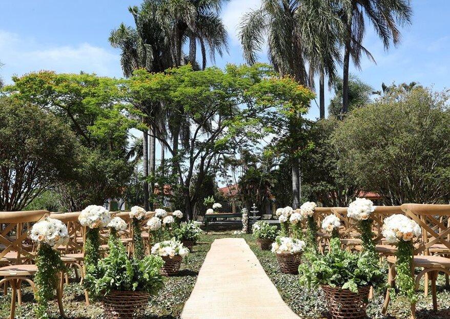 Fazenda Capela do Bosque: seu casamento celebrado em meio à natureza com muito charme e sofisticação