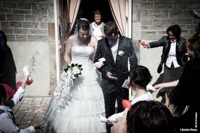 5 suggestions originales pour votre sortie de l'église le jour du mariage
