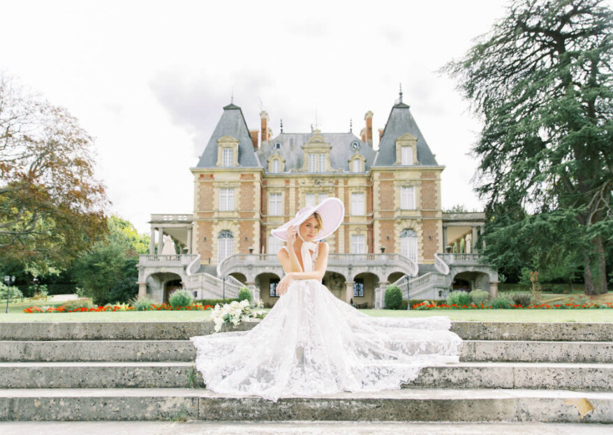 Coleção Le Jardin Royal por Karen Rodrigues: vestidos de noiva leves, delicados e surpreendentes inspirados no romantismo francês.