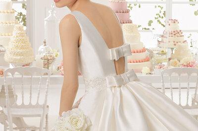 Die Schleife als Accessoire für das Brautkleid: Die Kollektion 2015 von Aire Barcelona