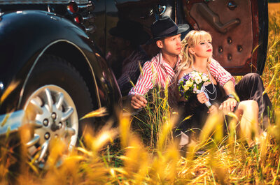 Utiliza un carruaje o burrita de boda: ¡elegancia extrema!