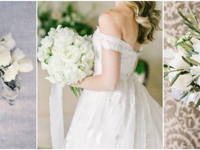 22 bruidsboeketten met elegante witte bloemen: de perfecte toevoeging aan jouw look