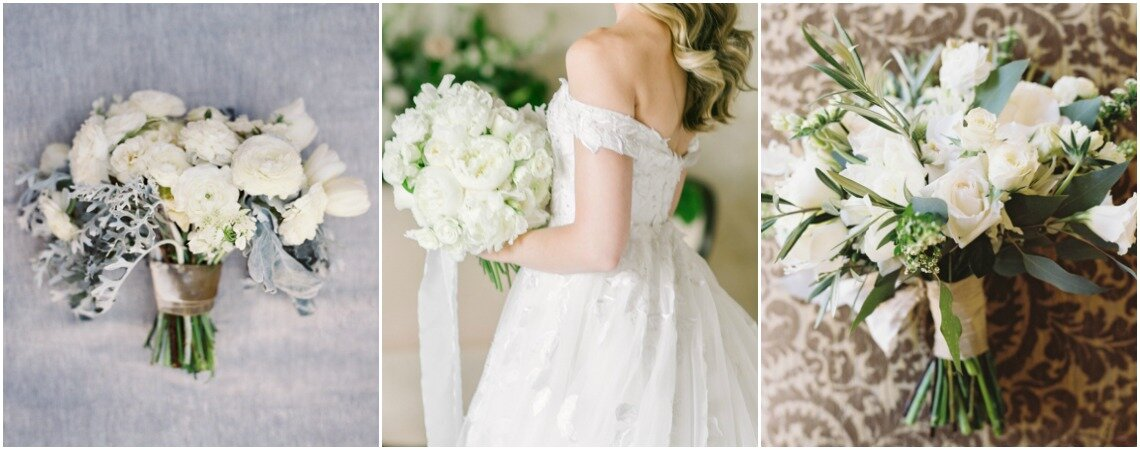 22 Elegant Bridal Bouquets: White is the Perfect Color For Your Wedding Look!