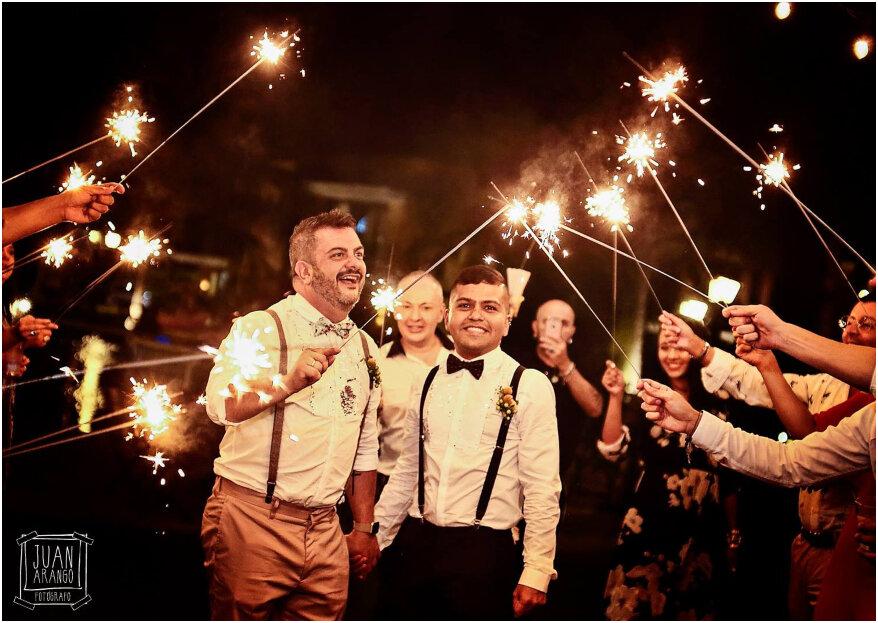 David y Carlos: tal como la imaginaron, ¡así vivieron su sueño de boda!