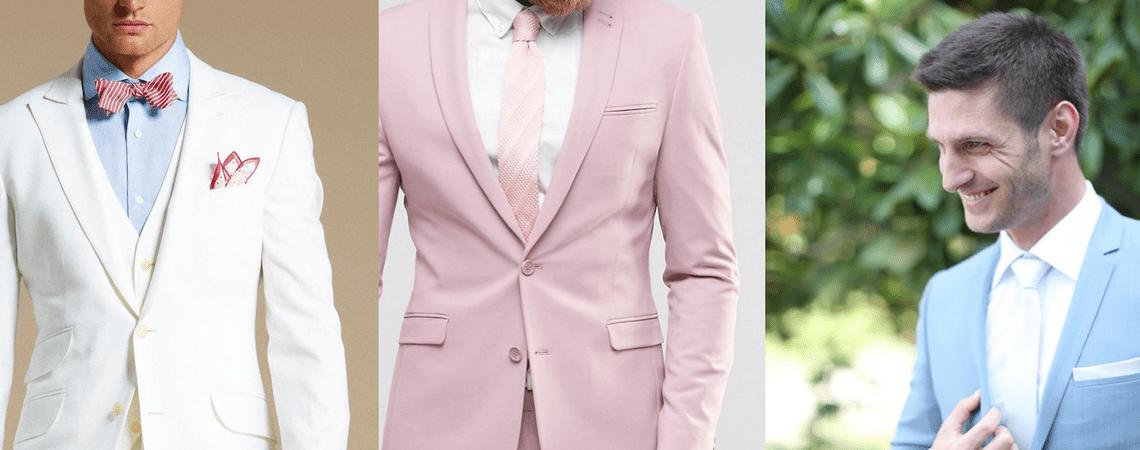 El novio en colores claros: La nueva tendencia para tu chico