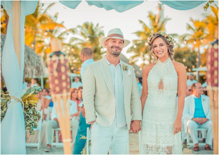 Etiqueta para boda en la playa: ¡lo que necesitas saber, tanto tú como él!