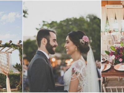 Casamento rústico chic de Raquel e João Paulo: cerimônia em cenário deslumbrante!