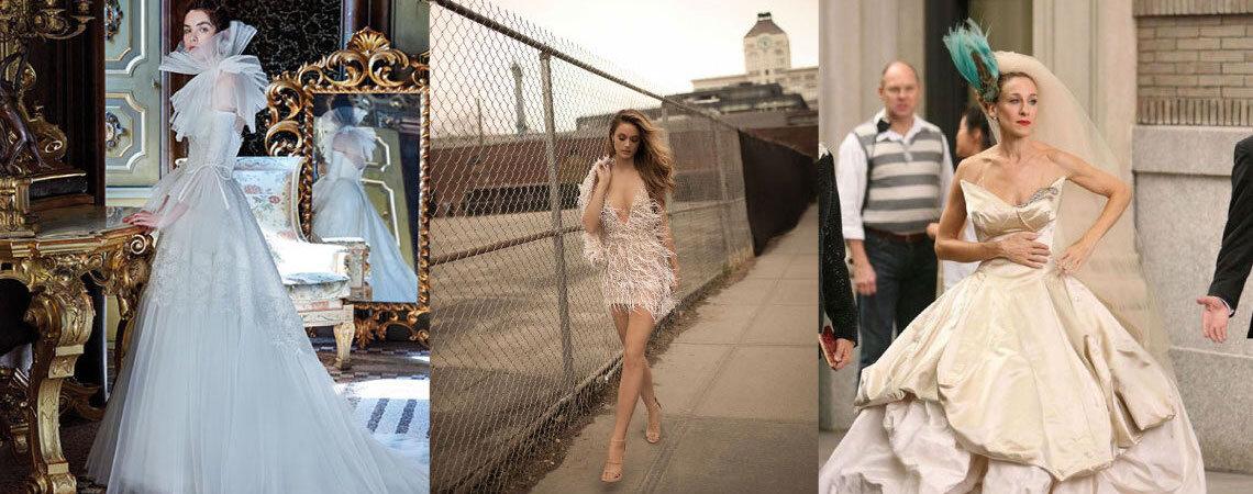 5 abiti da sposa che ci fanno impazzire... ma che NON indosseremmo mai!