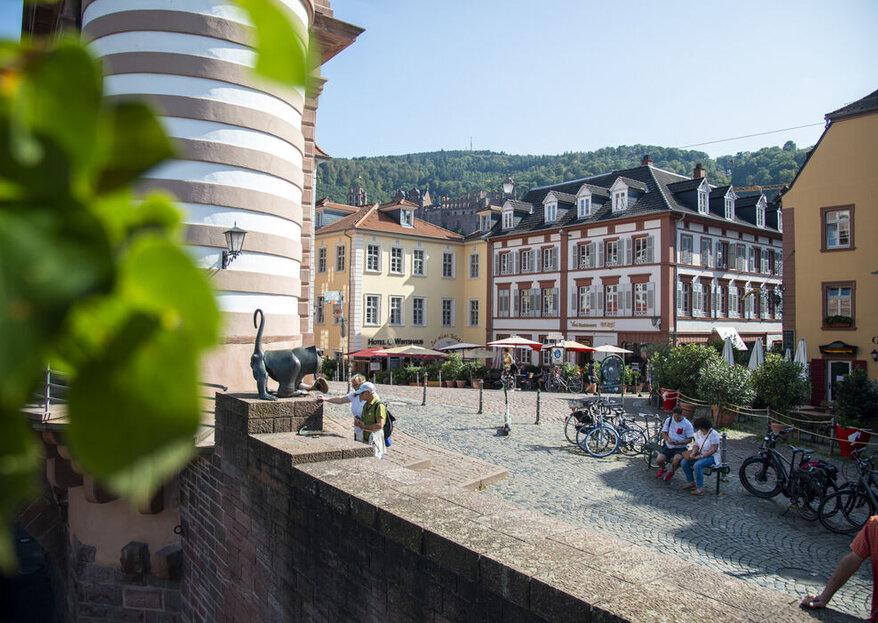 Die besten Hochzeitslocations in und um Heidelberg