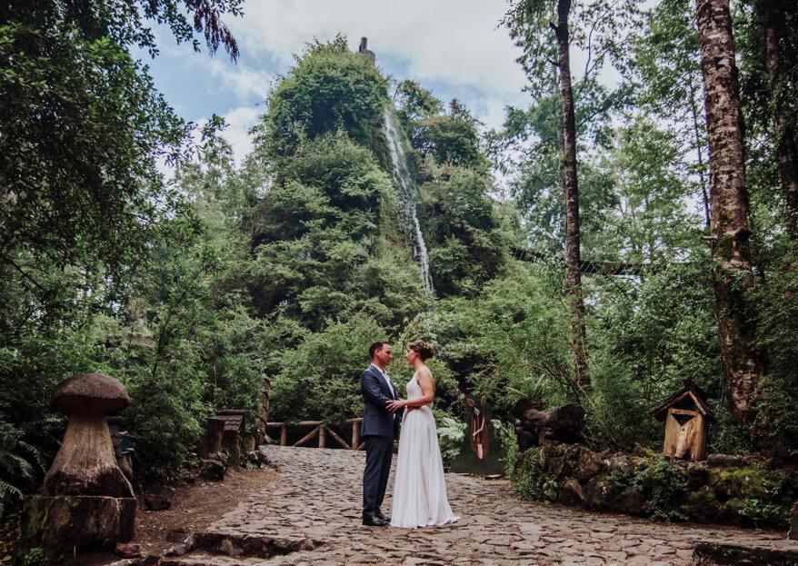 Matrimonio y luna de miel en la naturaleza de Huilo Huilo