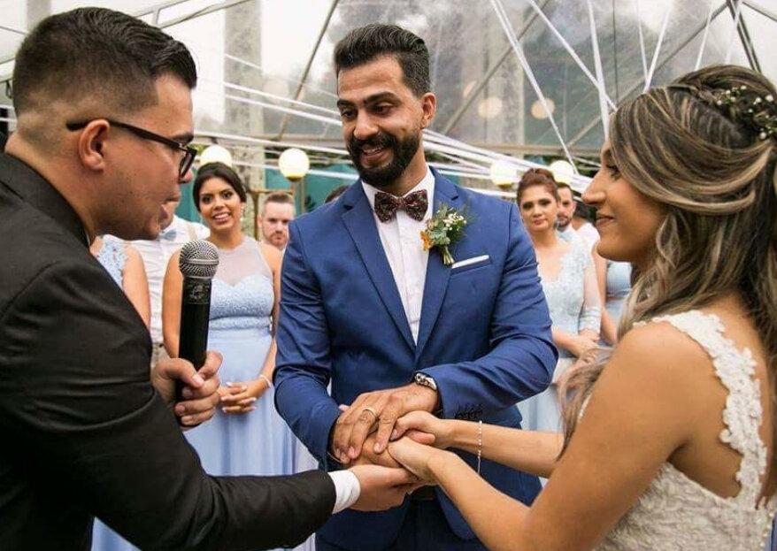 6 emoções que o celebrante te fará sentir no dia do casamento!