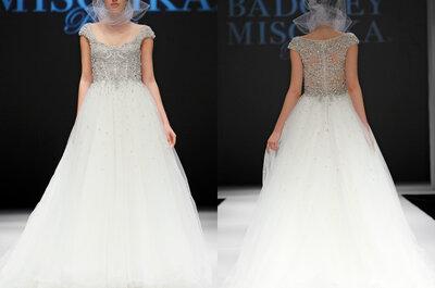 Badgely Mischka otoño 2015: Encaje, pedrería y hermosas capas en vestidos de novia
