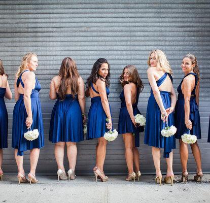 Vestidos Color Azul Marino Para Tus Damas De Boda El Tono