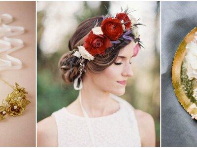 Coroas de flores para noivas: perfeitas para penteados de noivas românticas!