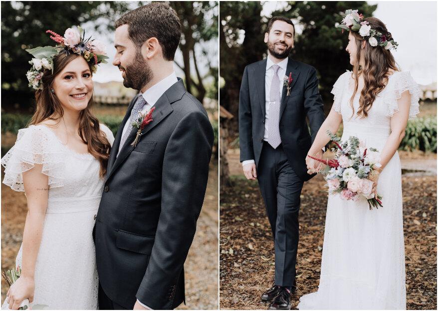 Laura y Diego: las coincidencias de un amor que unió sus corazones