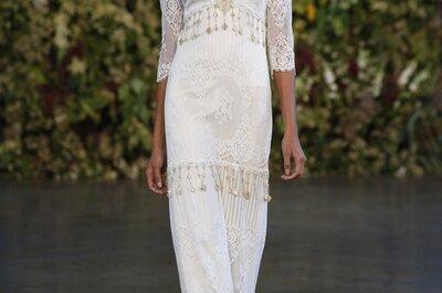 Ángeles caídos: Volúmenes, encaje y romántica elegancia en los vestidos de novia Claire Pettibone 2015