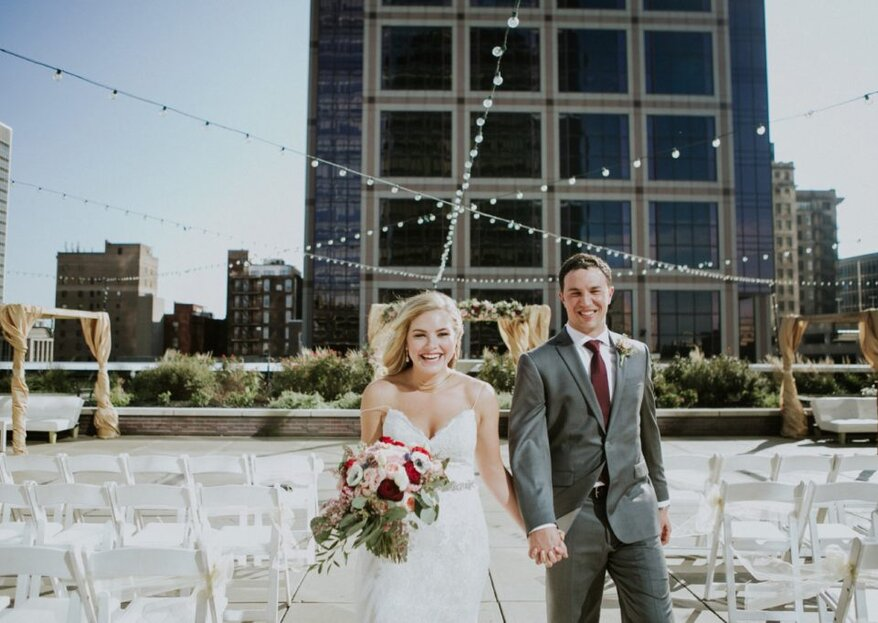 Jacqueline and Andrew's Gorgeous City Wedding in Indianapolis