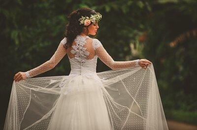 Vestidos de noiva para casamentos à tarde: leves, elegantes e sofisticados!