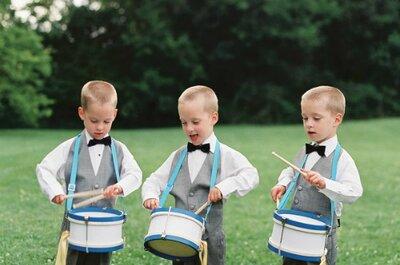 Ideas para los pequeños de tu boda: qué pueden hacer y cómo vestirles