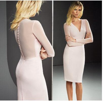 Vestidos de fiesta cortos rosa clara 2019